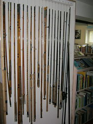 Rods on display